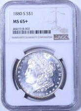 1880-S Morgan Dollar : NGC MS65+
