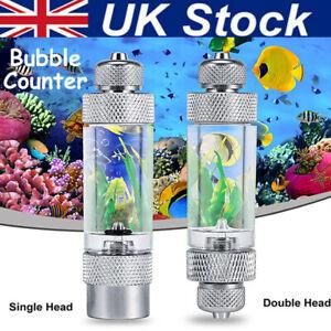 Aquarium Aluminum Bubble Counter with Check Valve for Co2 Diffuser Regulator UK
