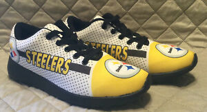 PITTSBURGH STEELERS Women's Lightweight Shoes Sneakers Football Team Size 7