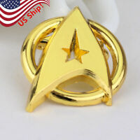 US! Star Trek Gold Plated Starfleet Communicator Brooch Badge Lapel Pin Fan Gift