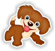Smiling Happy Dog Sticker for Bumper Truck Laptop Luggage Suitcase Tablet #01