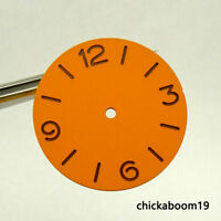 38.9MM Orange Sterile Watch Dial Fit For ETA 6497 Hand Winding Movement