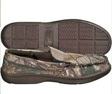 Field & Stream Realtree 7 Mens Camo Moccasin Slippers Rubber Sole Fasslip Mentrx