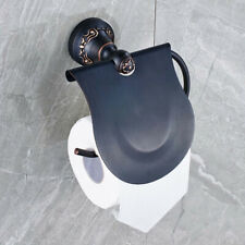 Black Oil Rubbed Bronze Wall Mounted Toilet Tissue Paper Holder Bath Accessory