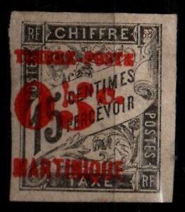 MARTINIQUE : Timbre TAXE surchargé n°24, Neuf * = Cote 20 € / Lot  DOM-TOM