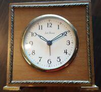 VTG Seth Thomas Wood & Brass Alarm Clock Wood Germany - Not Working?