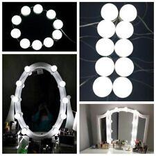 Studio Glow Make Up Light Super Bright Vanity Mirror Portable 10 LED Bulbs DC 5V