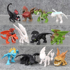 How To Train Your Dragon Light Night Fury Toothless 12PCS Action Figure Kids Toy