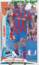 039 THIERRY HENRY FRANCE FC.BARCELONA STICKER 100 CRACKS JUGON 2005-2014 PANINI