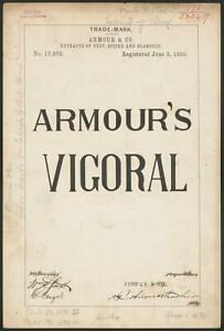 Armour & Co. for Armour's Vigoral brand Extracts of Beef,Spiced,Seasoned 5235