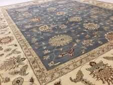 12 X 15 Persian Oriental Rug Ziegler Light Blue Ivory Hand Knotted Wool 12x15