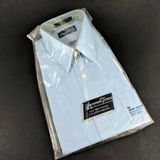 Vintage Men's Shirt Size 16 Short Sleeve Blue Button up Summer Shirt Summer Tone