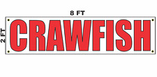 Crawfish Banner Sign 2x8 for Business Shop Building Store Front Restaurant
