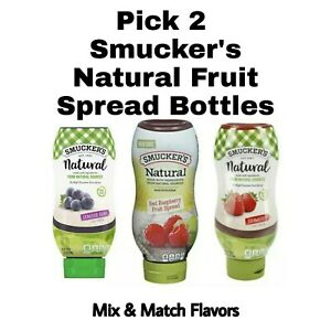 Pick 2 Smucker's Natural Fruit Speads Concord Grape, Red Raspberry or Strawberry