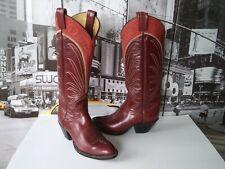 Vintage Tony Lama Gold Label Western tall Boot Burgundy Kangaroo women's US 6