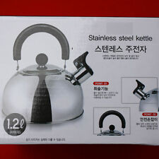 1.2L 40oz Kitchen Tea Kettle Water Pot Whistle anti-heat handle Camping Home