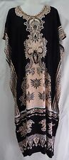 1N414 LADIES KAFTAN DRESS WOMENS  BLACK size 14 , 16 ,18 $ 20 PLUS NEW WITH TAGS