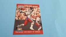 1990 PRO SET FOOTBALL GREG KRAGEN CARD #348***PRO BOWL***