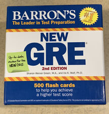 Barron's New GRE 2nd Edition 500 Flash Cards Test Preparation Sharon Green Wolf