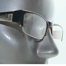 Bold Boss Chunky Brown Top Frame Invisible Lens Reading Glasses +2.00 Strength