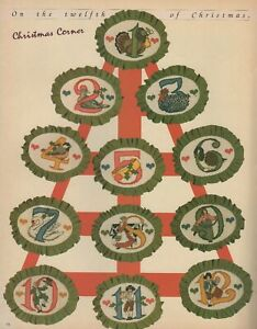 Better Homes & Gardens Cross Stitch & Country Crafts 12 Days of Christmas ornies