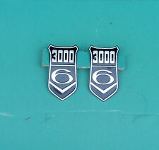 FORD CAPRI MK 1 GRANADA MK 1 3000V6 BADGE INSERTS, GENUINE. BLACK, POST FREE UK