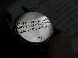 Vintage 1940's Men's WWII Hamilton Ordnance Watch Case & Crystal 88-W-800 39102