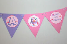 1 x Giggle and Hoot 'Hootabelle' 12 flag Personalised Party Bunting