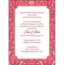 25 Personalized 40th Wedding Anniversary Party Invitations  - AP-014