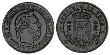 10 CENTS / 10 CÉNTIMOS. CARLOS VII PRETENDIENTE. 1875. VF+/MBC+. INTERESANTE.