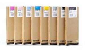 8 Original Epson Stylus Pro 9600 7600 4000/T5441 T5442 T5443 T5444 T5445-T5448