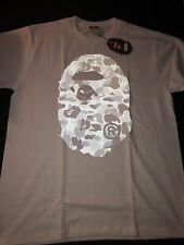 Bape A Bathing Ape ABC Grey Big Ape Head Reflective Camo Shirt Size L New w/Bag