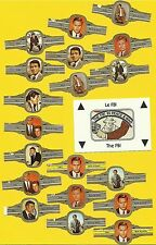 FBI TV Series Program Fab Card & Cigar Band LOT Efrem Zimbalist Jr Philip Abbott