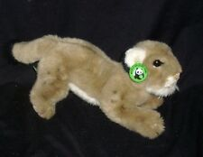 "14"" VINTAGE 1986 APPLAUSE 28103 WWF WILDLIFE LION LYNX STUFFED ANIMAL PLUSH TOY"
