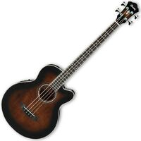 Ibanez AEB10E Acoustic-Electric Bass Guitar in Dark Violin Sunburst High Gloss F