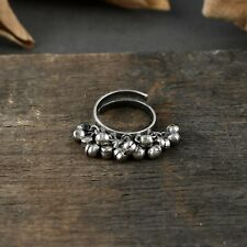 Riara Ring Women Girls Ghungroo Ethnic Adjustable Rings Tribal Jewelry For Gift