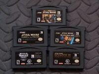 Lot Nintendo Game Boy Advance GBA Games Star Wars - 5 games