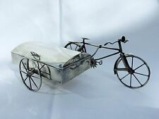Novelty Solid Silver Mid Century Bicyle with Trinket Box Mexican J Gratacos 1940