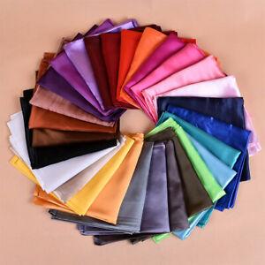 Satin Silk Scarf Hijab Solid Plain Shiny Soft Large Square Head Neck Wrap 90x90