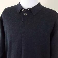 Vtg Carlo Colucci Wool Blend Pullover Sweater Mens sz 52 Large Charcoal Gray