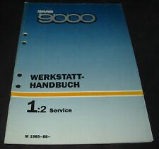Werkstatthandbuch Service Saab 9000 Wartung Schmierung Inspektion Kundenprogramm