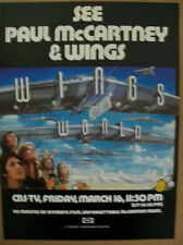 Paul McCartney & Wings 1979 Ad- Wings Over The World CBS-TV Friday March 16th