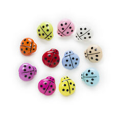 50pcs Shank ladybug Resin Buttons Sewing Scrapbooking Clothing Decor 16x15mm