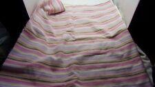 "New listing 2+ Yds. 58"" Wide Pink/White/Multi Color Stripe Seersucker Cotton Fabric-2 Pcs."