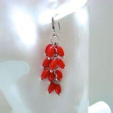 Handgefertigter Mode-Ohrschmuck mit Korallen-Perlen für Damen