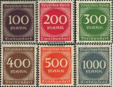 Duits Empire 268-273 (compleet.Kwestie.) postfris MNH 1923 Numbers