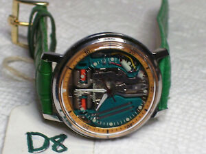 Bulova Accutron m5 1966 214H Military style Space View Watch