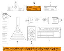 AUDI OEM 12-16 A6 Quattro Label-AC A/C Sticker 4G0010515A