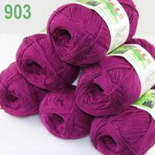 Lot 6ballsx50g Bamboo Cotton Baby Hand Knitting Scarf Shawl Yarn Bramble berry