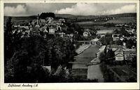 Arnsberg Sauerland alte s/w Postkarte 1953 Gesamtansicht mit Blick auf die Ruhr
